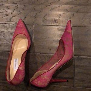 Jimmy Choo Shoes - Jimmy chop lace high heel shoes